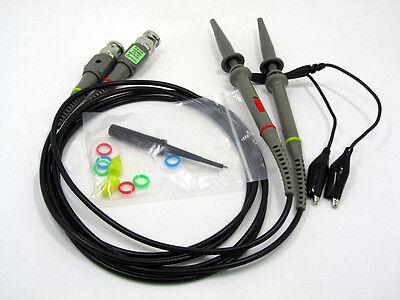 2x Clip Probe Test Leads Kit 100mhz Scope Oscilloscope Analyzer For Hp Tektronix