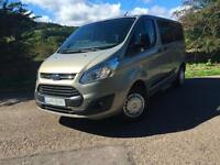 FORD TOURNEO CUSTOM 300 TREND E TEC 2.2 MINI BUS SILVER 9 SEATS 2013