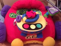 Baby's sit in soft toy car with lights and sounds