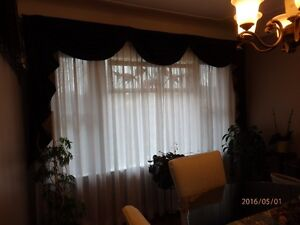 Black/Gold Swag-Valance Combo