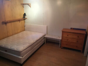 Furnished room near downtown includes internet and utilities