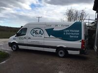 Large LWB van travelling from Aberdeen to London weekly