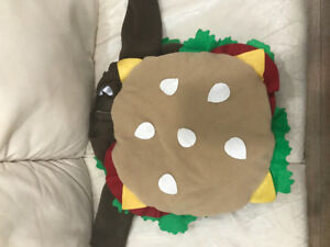 Hamburger costume. Great for over a snowsuit
