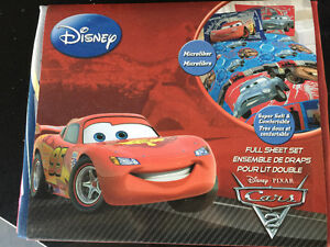 Brand new in package - Disney cars sheet set - double - paid $45