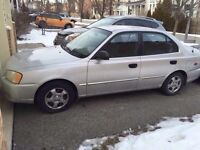 Certified Low kms Hyundai Accent with etest very clean