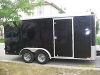 cargo mate enclosed trailer, 7.5 x 16 ft, torsion axles. TRADE??