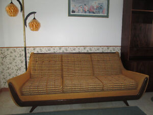 1960s Sofa / lounge chairs, 1 footstool Mid Century Modern retro