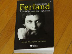 Livre biographie/JEAN PIERRE FERLAND , littérature auteur chants