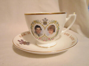 Cup & Saucer of The Prince of Wales and Lady Diana - 1981