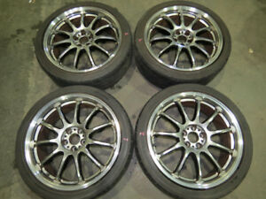 JDM Work Emotion 11R Rims 5X100 Wheels 18X7.5 +38  Subaru