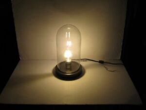 """lamp led cloche wooden base 12-1/2"""" high. price firm"""