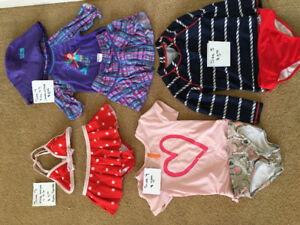 Girls bathing suits size 4-6 fits