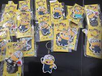 Wholesale job lot of 60 large NEW Minion key rings