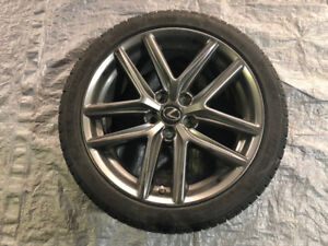 "18"" OEM Lexus IS350 IS250 IS300 Rims with Winter Tires"