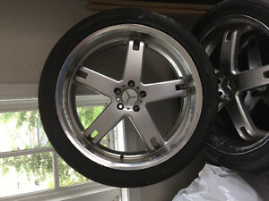 """22"""" MB Rims and Tires"""
