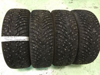 225/60R17 NOKIAN Studded Winter Tires (85% tread left)