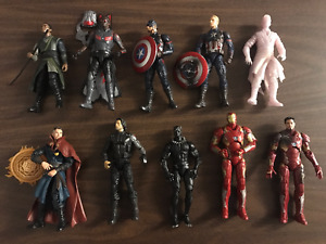 collection of 10 Marvel Legends