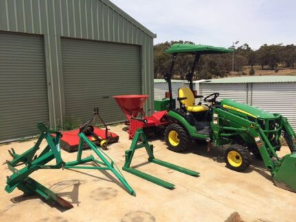 John Deere 1026r tractor loader and implement package! 2014