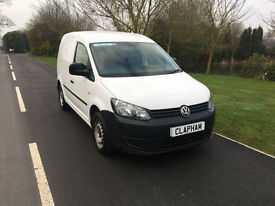 2013 63 VOLKSWAGEN CADDY C20 1.6 TDI 75 BHP WHITE 1 COMPANY OWNER