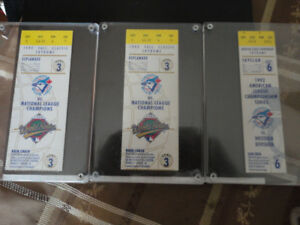 3 1992 World Series Baseball Tickets @  the Skydome in Toronto