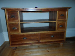 """Wood TV Stand - 30"""" high and 43"""" by 17.75"""" on top"""