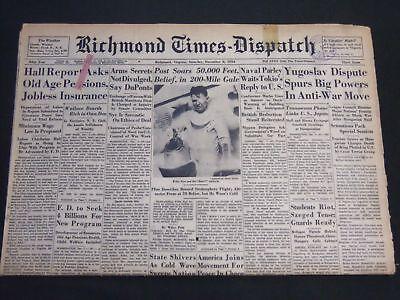1934 Dec 8 Richmond Times Dispatch Newspaper   Post Soars 50 000 Feet   Np 2409