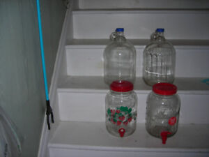 4 Glass gallon jugs for sale
