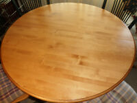 "From Estate - Bedard 46 1/2 "" Maple Dining Table + 20 "" Leaf."