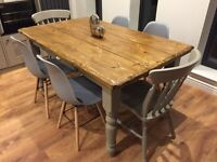 Table and 6 chairs- NEW-handmade