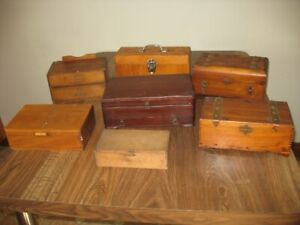 Seven Old Wooden Boxes