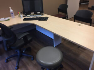 Large L shaped Executive Office Desks