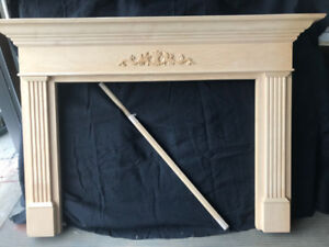 Maplewood Mantle Piece with shimming pieces for Sale
