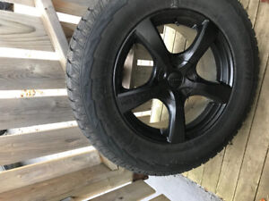Jeep GC wheels and studded winter tires