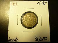 Canada Monnaie 10¢ 1931 Ef-40+ À Rabais! Laval / North Shore Greater Montréal Preview