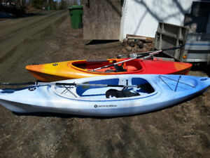 2 kayaks Perception 10 pieds
