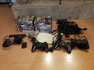ps2 console w/tons of games
