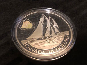 The Bluenose 2000 $20 Sterling Silver Coin