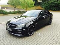 2011 61 reg Mercedes-Benz C63 6.3 AMG Edition 125 Black Saloon + HUGE SPEC