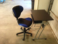 small computer desk with swivel chair