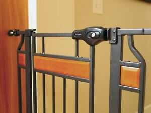 Regalo Home Accents Extra Tall Walk Thru Gate, Hardwood