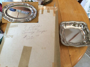 Silver Serving Trays - 7 Pieces