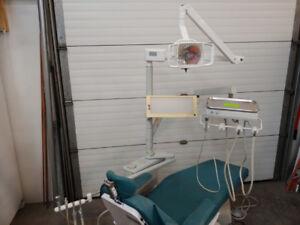 Used Pelton Crane Dental Delivery Side Unit Equipment Light