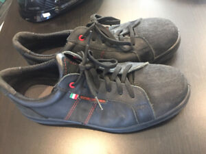 Sidewinder steel toe work shoes made in Italy