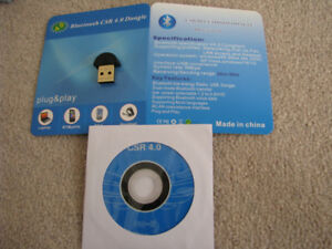Bluetooth CSR 4.0 dongle with CD