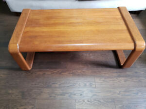 Solid Teak coffee table, and 2 teak end tables