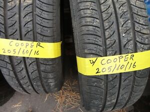 4 ALL SESAON TIRE COOPER 205/60/R16 85%