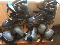 Inline skates size 9 (EU size 43)