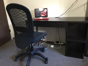 IKEA desk with computer chair