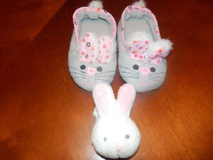 (Brand New) Easter Bunny Slippers with Wrist Bunny