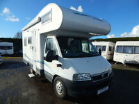 Chausson Welcome 9, 4 to 5 Berth, with Double fixed French bed, and 4 Seat Belts
